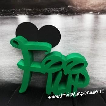 Litere polistiren personalizate - Mickey