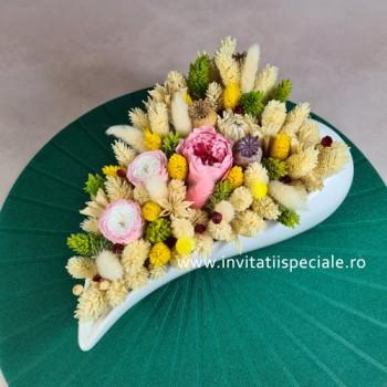 Aranjament Flori Naturale Uscate si Criogenate - Inima