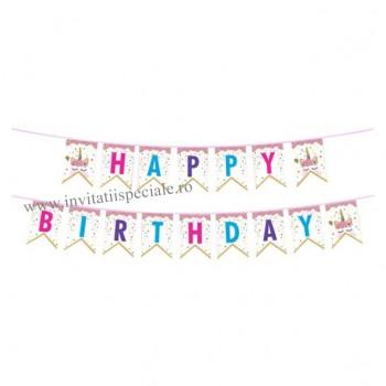 "Ghirlanda Unicorn ""Happy Birthday"""