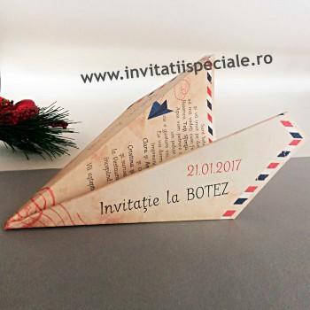 Invitatie Avion de Hartie Botez