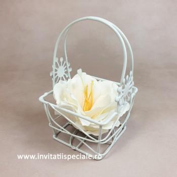 Cosulet Metal cu Floare Sapun