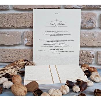 Invitatie Eleganta Ivory