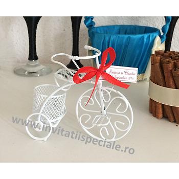 Marturie Bicicleta Metalica Alba