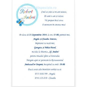 Invitatie Botez Baietel Funditafoto