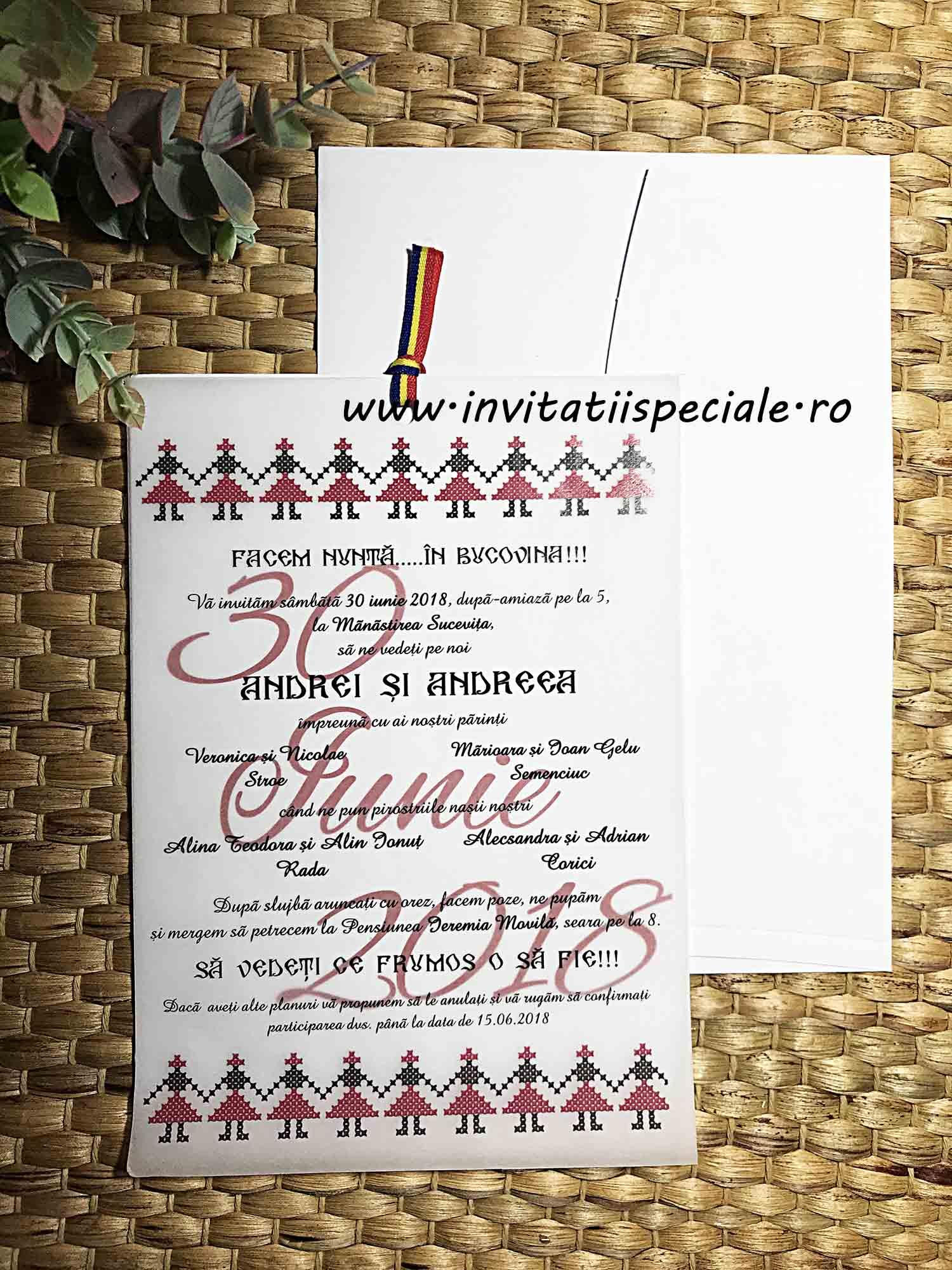 Invitatii Tema Rustic Traditional