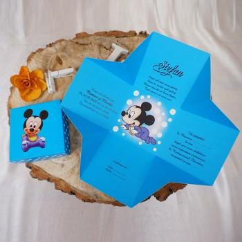 Invitatie Cutiuta 3D Mickey Mouse Baby
