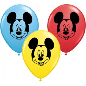 Baloane latex Cap Mickey Mouse - 13 cm - Set 10 buc