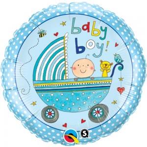 Balon Botez Rotund - Baby Boy - 23CM